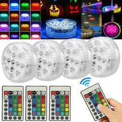 1-4PC Swimming Pool Light RGB LED Bulb Underwater Color Vase