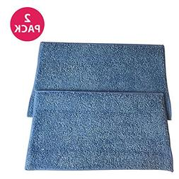 2 HAAN SI-25 Washable Micro-Fiber Blue Steam Mop Pads fits H