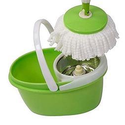 360°Rotating Head Easy Magic Floor Mop Bucket w/ 2 Spinning