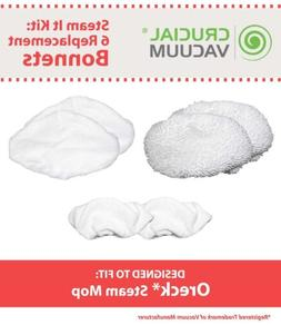 6 Replacements Oreck Washable Steam It Mop Pads