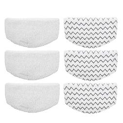 Aunifun 6 Pcs Washable Steam Mop Pads Replacement for Bissel