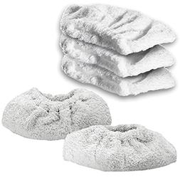 Spares2go Cotton Terry Cloth Cover Pads For Karcher Steam Cl