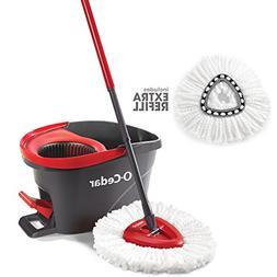O-Cedar EasyWring Microfiber Spin Mop & Bucket Floor Cleanin