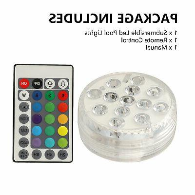 1-4PC Light RGB Color Lights&Remote