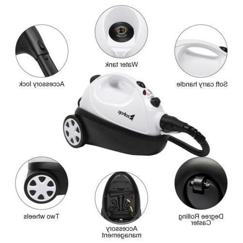 Steam Mop Floor Cleaner With 19 Accessories 1500W UL Plug Wa