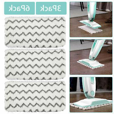 3x 6x steam mop pads replacement