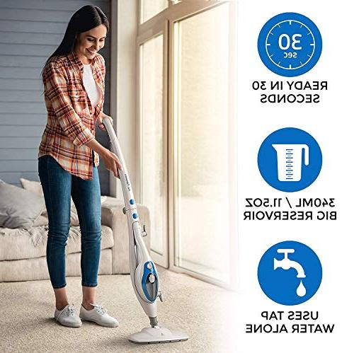 Steam Mop Cleaner 10-in-1 with Convenient Handheld Unit, - - Friendly Steamer Whole Multipurpose by PurSteam