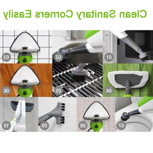 Steam Mop Cleaner 10-in-1 with Convenient Handheld Unit