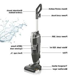 Lightweight Upright Vacuum Cleaner Steam Mop Wet-Dry Home W/