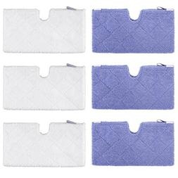 YISSVIC Steam Pocket Mop Pads 6 Pack Compatible Replacement