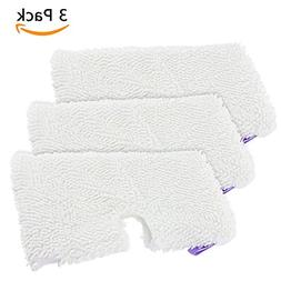 MarlaMall 3 Pack Washable Microfiber Mop Pads Cleaning Pads