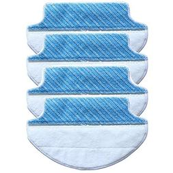 4-pack Wet & Dry Microfiber Mop Pad Mopping Cloth For Ecovac